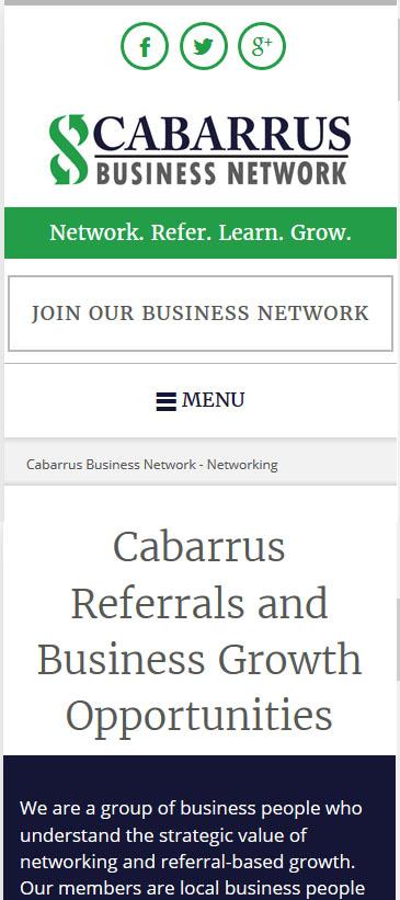 Cabarrus Business Network Screenshot